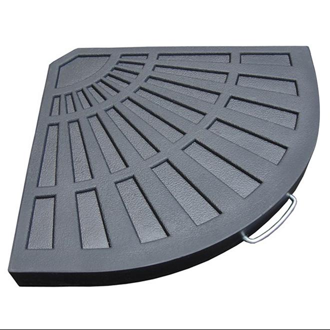 Allen + Roth Concrete-Filled Resin Offset Umbrella Base - 18 1/2-in - Grey