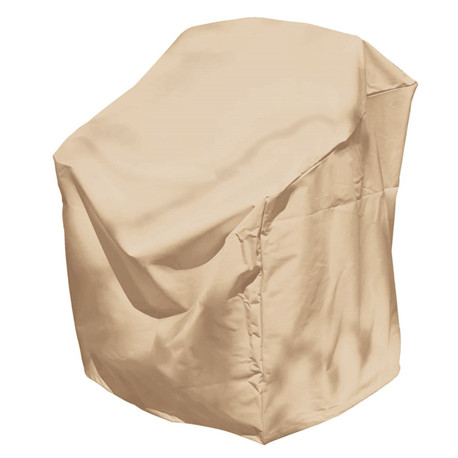 Stacking Patio Chair Cover - 30-in x 27-in x 48-in - Tan