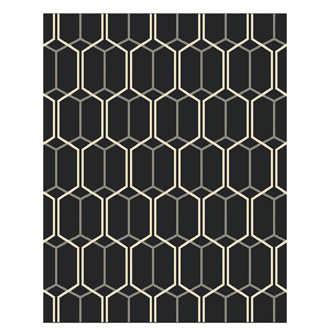 Outdoor/Indoor Area - 8' x 10' - Grey Geometric