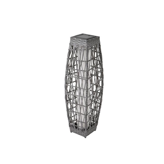 "Savona Solar Lantern - LED - 30.7"" - Grey"