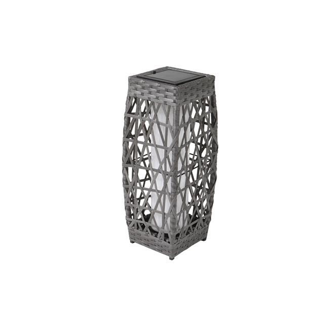 "Savona Solar Lantern - LED - 18.1"" - Grey"