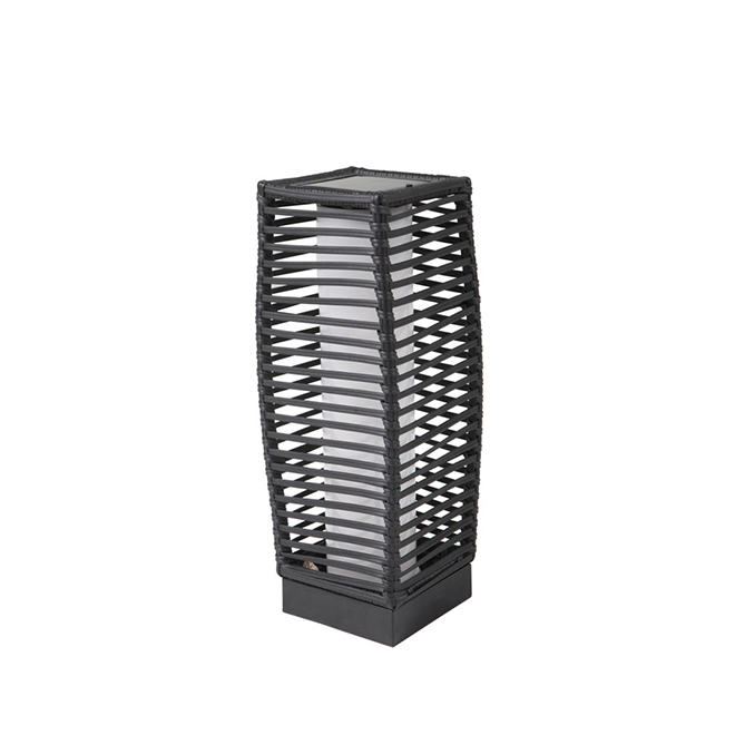 "Allen + Roth Piedmont Solar Lantern - LED - 18.1"" - Steel - Black"