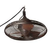Allen + Roth Ceiling Fan for Gazebo - 20-in - 3 Speed- 3 Blades - Bronze