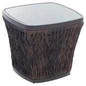 "Ellisview Woven Wicker Square Patio Side Table - 22"" - Brown"