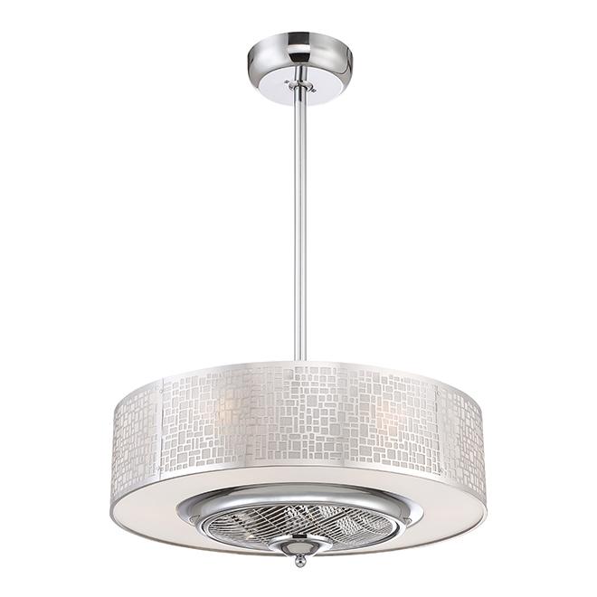 """Ventilateur de plafond, 24"""", chrome"""