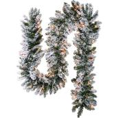 Lighted Garland - 9' - 100 Warm White Lights