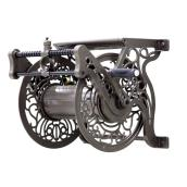 Wall-Mounted Decorative Hose Reel with Guide - 125' Capacity