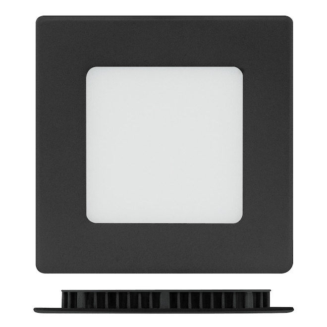 "4"" Square Recessed Light - 9 W LED - 3000 K - Black"