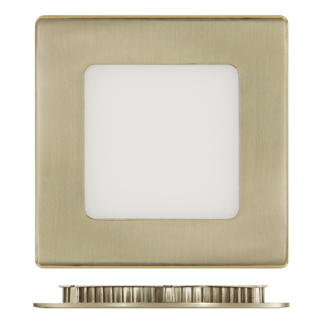 "4"" Square Recessed Light - 9 W LED - 3000 K - Brushed Nickel"