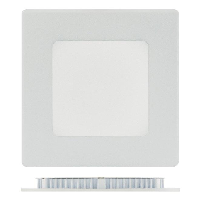 """Luminaire encastré carré, 4"""", DEL de 9W, 3000K, blanc"""