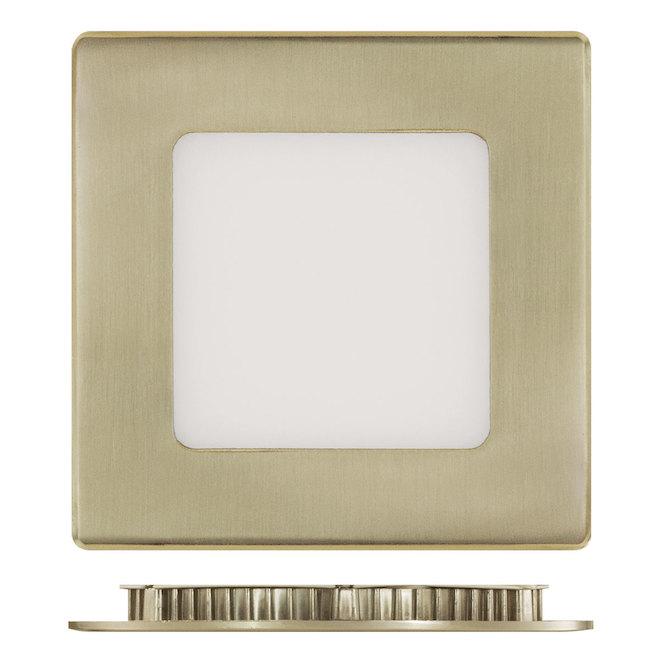 "4"" Square Recessed Light - 9W LED - 4000K - Brushed Nickel"