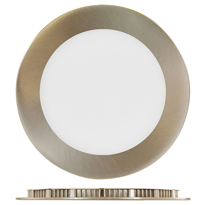 "6"" Round Recessed Light - 12 W LED - 3000 K - Brushed Nickel"