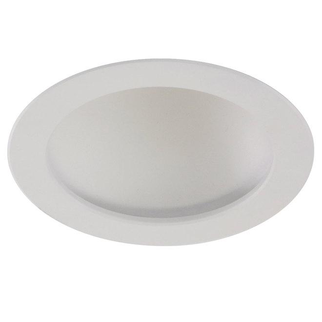 """Luminaire encastré rond, 6"""", Del de 12W, blanc"""