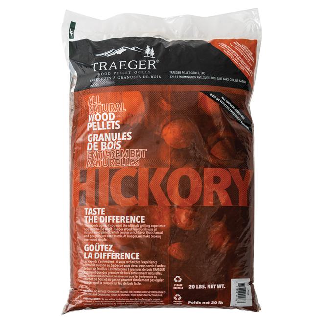 Traeger Pellet Grill Wood Pellets Hickory Flavour 20 Lb Pel324 Rona