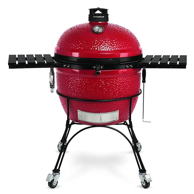 "Kamado Joe ""Big Joe"" Portable Charcoal Grill - 24 in - Red"