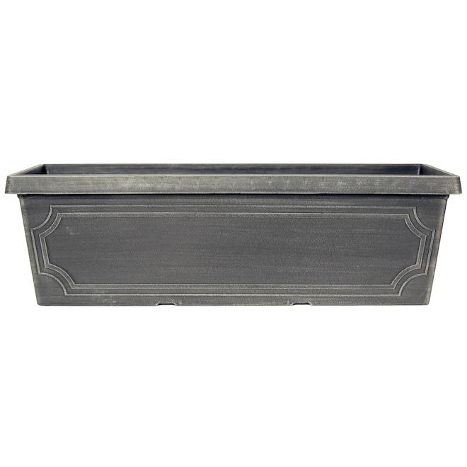 Rectangle Balcony Planter - Plastic 30-in Chalk