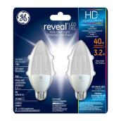 LED Candelabra Bulb - E-12 B Type - Dimmable - PK2