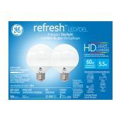 Spherical Bulb G25 - LED - Dimmable - PK/2 - Daylight