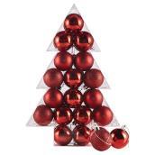 """Boules de Noël, incassables, 23/8"""", rouge, 34/pqt"""