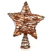 "Illuminated Tree Topper - Star - 11.7"" X 3.2"" X 13.7"" - Bronze"