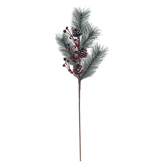 Holiday Living Pinecones and Berries ranch - 29-in - Red and Green
