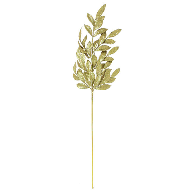 "Decorative Leaves Branch - 28"" - Gold"