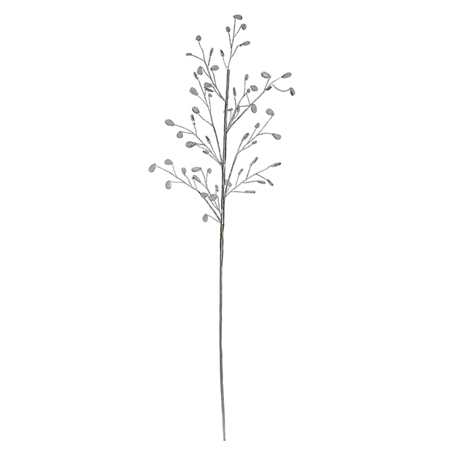 Decorative Branch with Beads - Clear