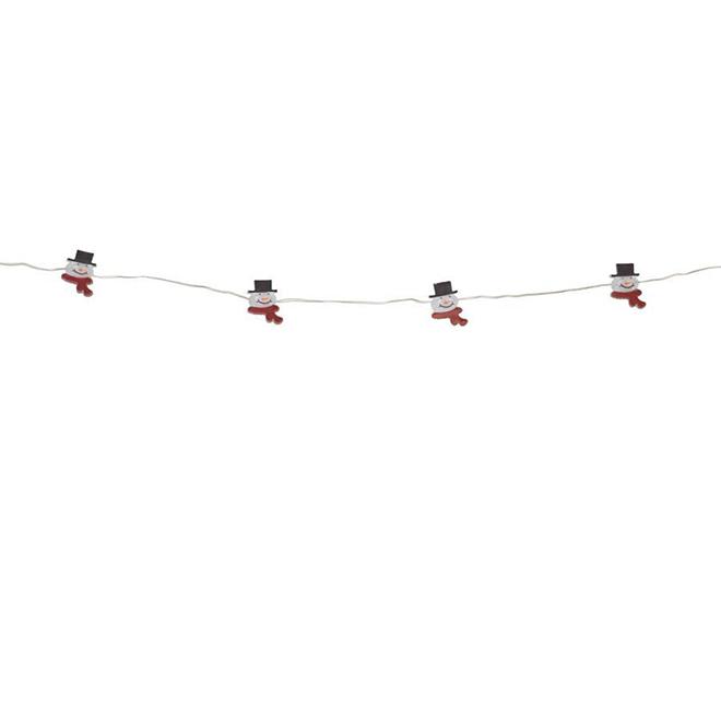 Snowmen Christmas Lights - 15 Lights - Warm White