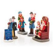 Christmas Village Figures - Polyresin - Multicolour - 5 Pieces