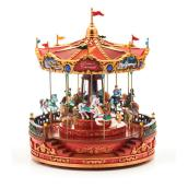 Rosie's Electrical Carousel - 12-in x 12-in x 14-in - Polyresin - Multicolour