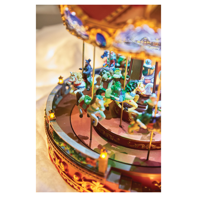 "Electrical Carousel - 12""x12""x14"" - Polyresin - Multicoloured"