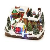 Musical Christmas Decoration - Sled & Ski Lift - LED