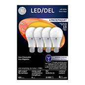 LED Bulb A19 6 W - Non Dimmable - Soft White - 4PK