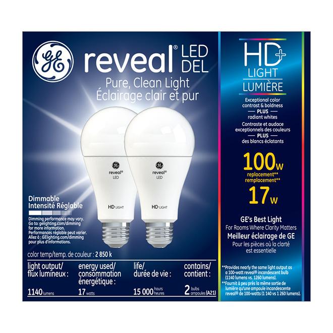 Ampoule HD A15 E26, intensité variable, pqt/2