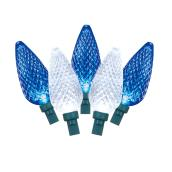Set of 90 LED C9 Bulbs - Reel - White/Blue