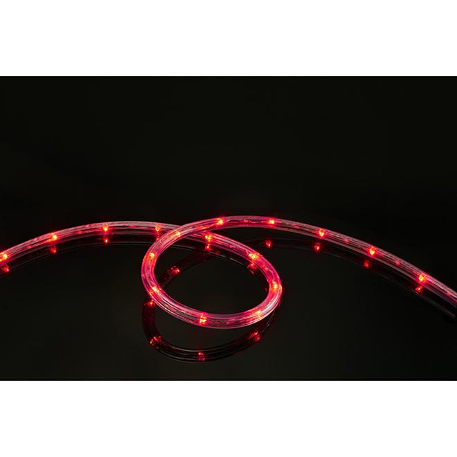 LED Light Rope - 15' x 76 Lights - Red