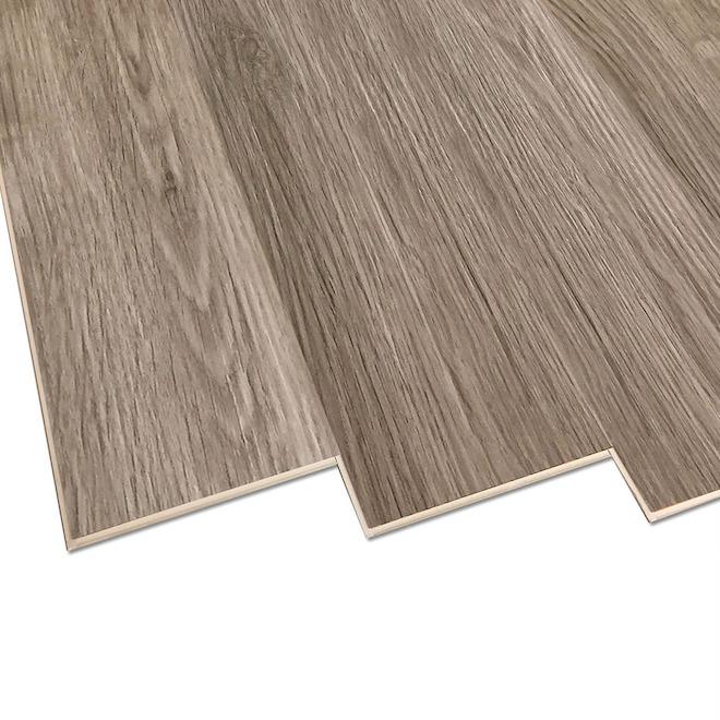 Lamelles en vinyle de luxe Duraclic XRP, 7,1 po x 48 po, chêne Riverstone, 10 unités