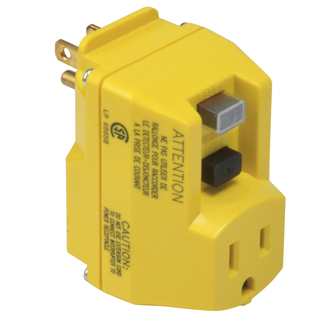 Single Outlet Portable GFCI Adapter - 1800 W - 15 A