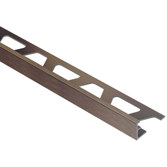 "3/8"" Tile Edge - Aluminum - Bronze"