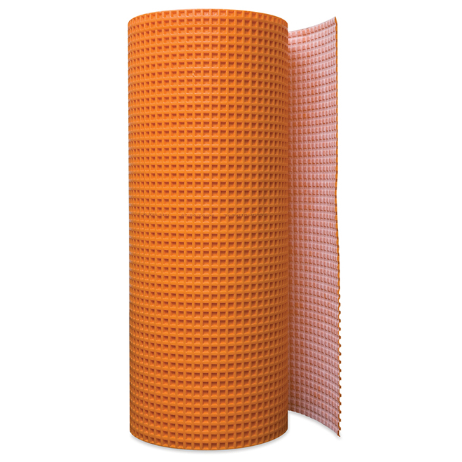 Membrane de désolidarisation « Ditra », 54 pi², orange