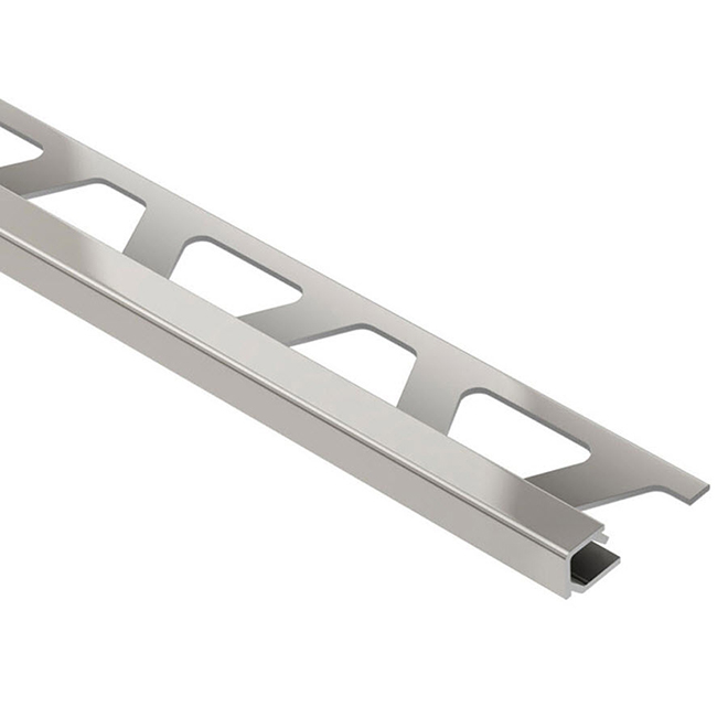 "3/8"" Tile Edge Corner - Aluminum - Satin Nickel"