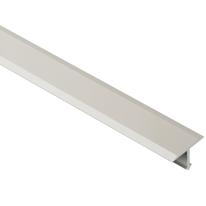 "Tile Floor T Trim - 9/16"" - Aluminum - Satin Nickel"