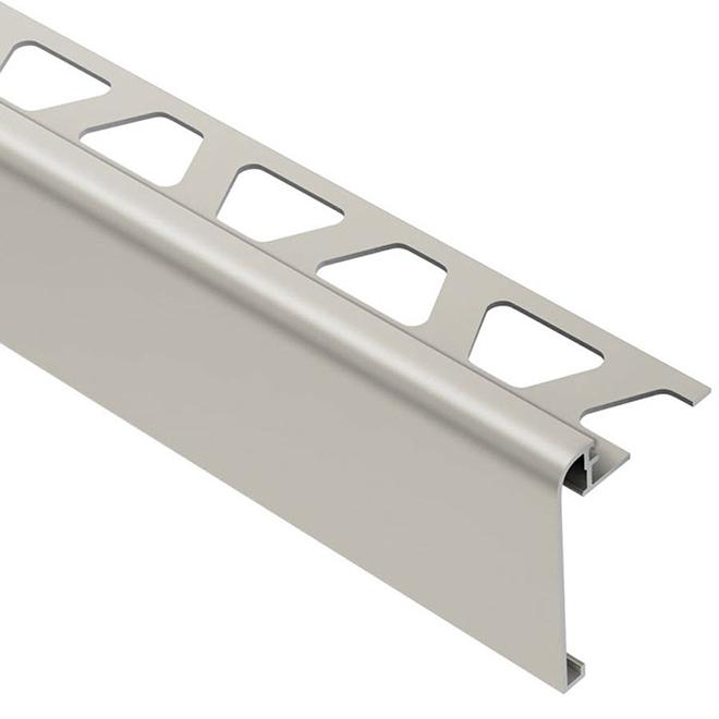 """Moulure pour tuiles de 3/8"""", comptoir/escalier, nickel"""