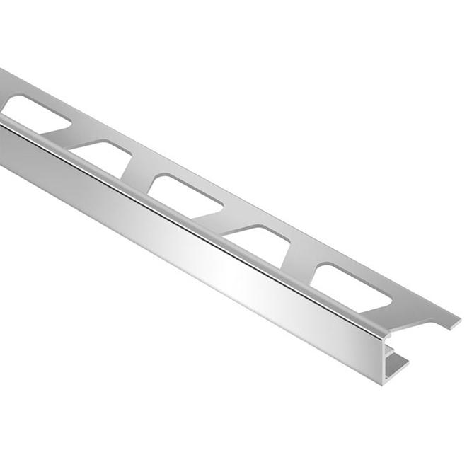 """Moulure pour tuiles de 3/8"""", aluminium, chrome poli"""