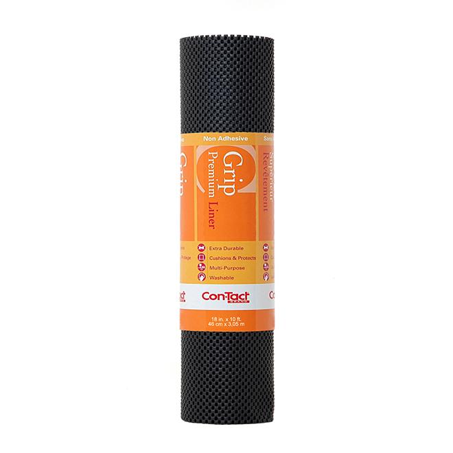 Non-Adhesive Shelf Liner - 18'' x 10' - Black