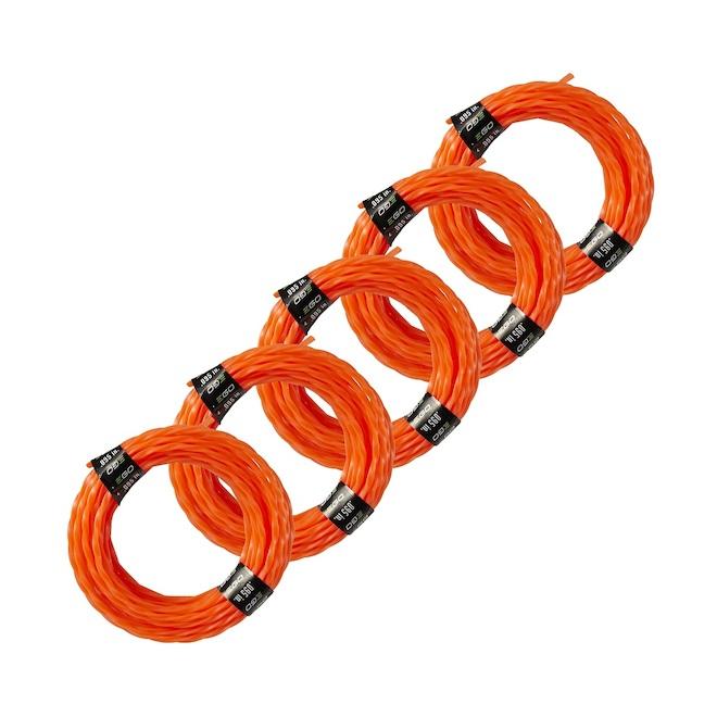EGO 14-ft Pre-Cut Trimmer Lines - Pack of 5 - Orange