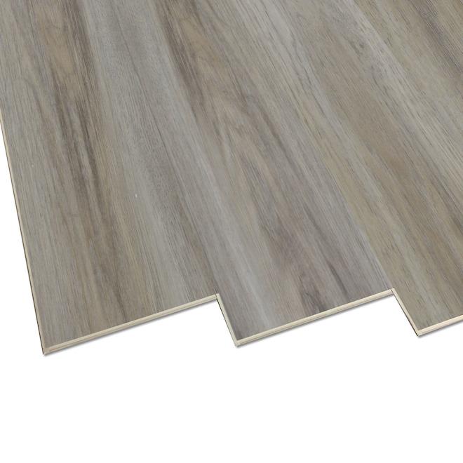 Plancher de vinyle Duraclic, Brume de Sierra, 7 po x 48 po, 23,64 pi², beige