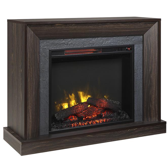 Electric Fireplace With Mantle 5100 Btu 1500w Walnut 1177fm
