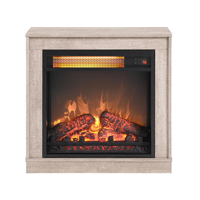 Style Selections Infrared Electric Fireplace with Barnwood Finish - 1500 W - 1000 sq. ft. - 23-in