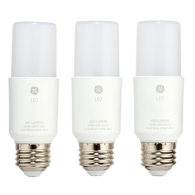 Bright Stik LED Bulb - 6W - Day Light - 3-Pack